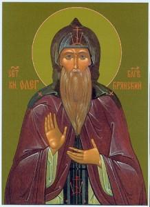 Икона прп. Олег Брянский